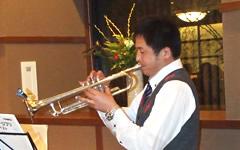 吉山氏のトランペット演奏